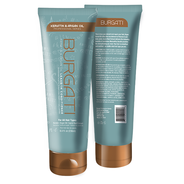 Burgati Argan Oil & Keratin Leave-in Conditioner